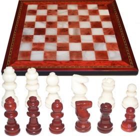 Scacchi e scacchieraalabastro cornice legno intarsiato cm 28X28..18456