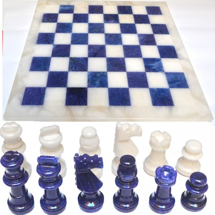 Scacchiera e scacchi alabastro di Volterra cm 37 X 37 18459
