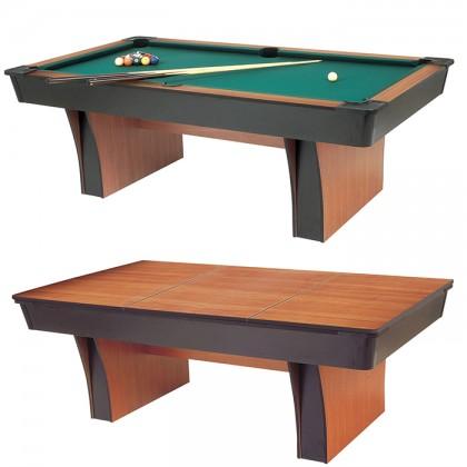 Garlando Alexandra biliardo pool campo da gioco cm. 224x112, 8 piedi, piano in MDF, con piane di copertura.   -23106TMDF