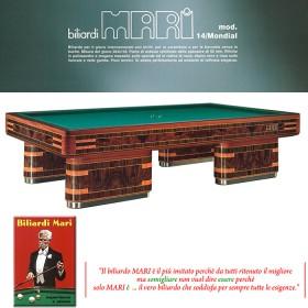 Biliardo Mari 14 Mondial come nuovo con buche 5-9 birilli  23076