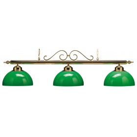 Lampadario a tre campane mod. Canopy Special, con asta in ottone.      09085