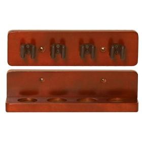 Portastecche a 4 posti in legno  -01401