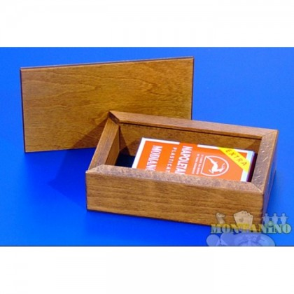 Astuccio in legno Modiano con carte regionali (napoletane) 16192