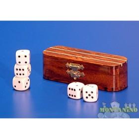 Astuccio per dadi in legno massello  16206