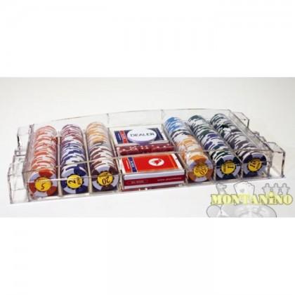Astuccio porta-fiches in plexiglass 300 fiches 14,5 gr DN 16253