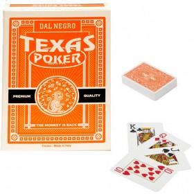 Dal Negro Texas Monkey 2 mazzi carte poker Holdem, tipo Jumbo. Dorso arancio. 17232A