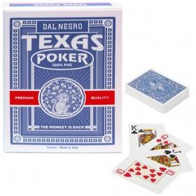Dal Negro Texas Monkey  2 mazzi carte poker Holdem, tipo Jumbo. Dorso blu 100% PVC,. 17232_B