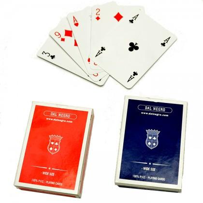 2 mazzi di carte da gioco Dal Negro Wide Size poker  in PVC.  17223
