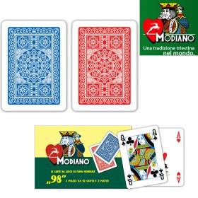 Confezione 2 mazzi Carte Modiano mod. Poker 98 plasticate.  17011