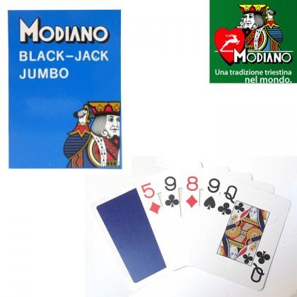 2 Mazzi di Carte Modianojumbo Black Jack e Texas  plast. 17109
