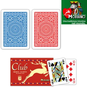 2 pz Carte francesi Modianomod. club plasticate.   17123