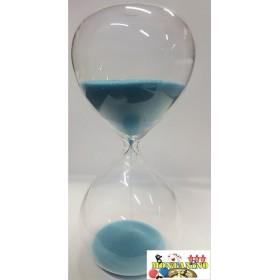 Clessidra in vetro con polvere azzura da 10 minuti   22069