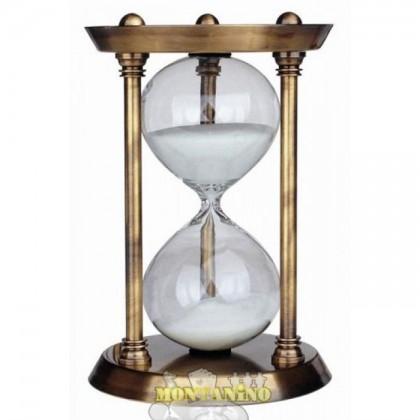 Clessidra ottonata da 15 minuti. 22038