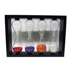 Clessidre in vetro con base in legno da 2-5-8-10 minuti 22070