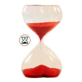 Clessidra in vetro 5 minuti a cuore cm.11   22071