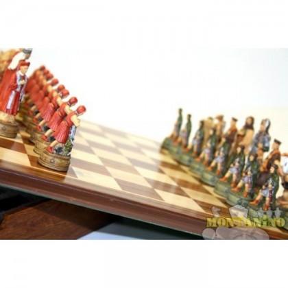 Base magnetica in legno massello, dipinti a mano, mod. Camelot. Dim.36,5 x 36,5 cm 18481