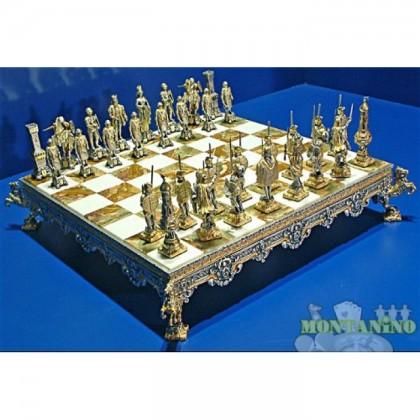Preziosa scacchiera con base in Onice (originale pakistana) e  -18440-18441