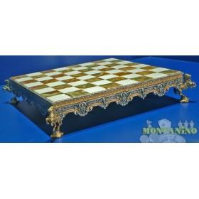 Preziosa base per scacchi mod. medioevale  -18441
