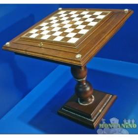 Tavolo con contenitore per gli scacchi e scacchiera in alabastro-18464