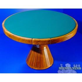 Bellissimo tavolo da gioco in legno, di alta fattura artigianale  14005.