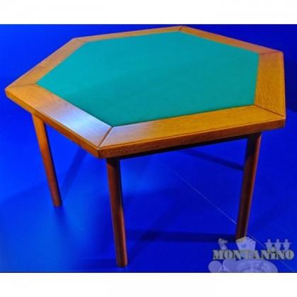 Tavolo esagonale in legno ciliegio. 14043