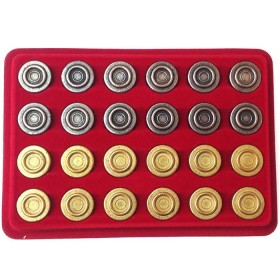 Pedine in metallo grandi per dama -18045