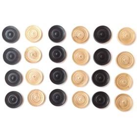Serie pedine in legno di bosso mm. 32 -18061.
