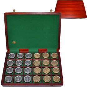 Pedine metallo stile fiorentinodi cristallo Boemia scatola legno. 18466