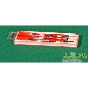 Freccette sure grip in alluminio con alette in nylon.  -  20107