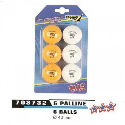 2 blister Palline per ping pong Competition Series by Sport One    - 13068
