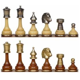 """Scacchi 150GS in legno e metallo bagnati oro e argento """"Persiani""""     18084"""