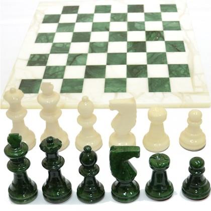 Scacchiera e scacchi in alabastro di Volterra cm 37 X 37 - 18096V