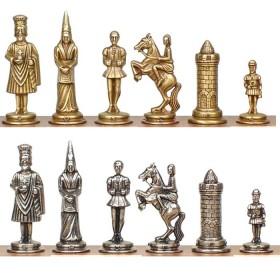 Scacchi in metallo Camelot personaggi dell'epoca medievale. 18168