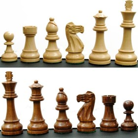 Set scacchi piombati e felpati in legno massello. 18416