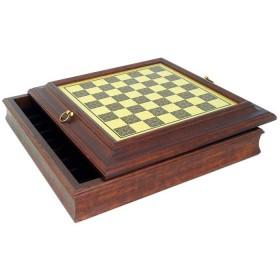 Base per scacchi con contenitore realizzata in ottone e legno  18038