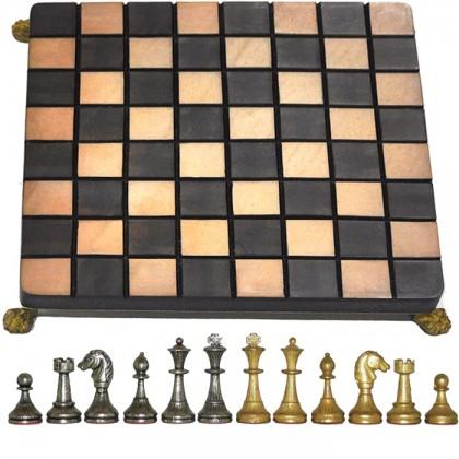 Preggievole scacchiera cm.20x20 scon scacchi in metallo Re H 4,8. 18379-18044