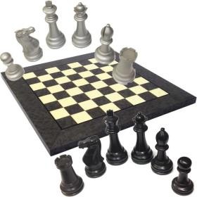 Scacchiera in radica con scacchi in legno laccati-18432-18433