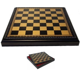 Scacchiera Backgammon in simil-pelle cm. 45,5 X 45,5 con contenitore in legno. 18490N