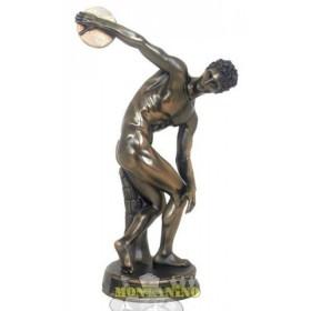 Statua Discobolo in resina bronzata 24180