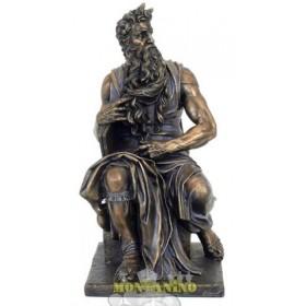 Statua Mosè in resina bronzata 24157