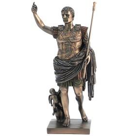 Statua in resina bronzata Augusto imperatore di Roma. 24552