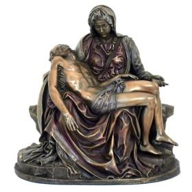 La Pietà di Michelagelo realizzata in resina bronzata (versione piccola) 24609