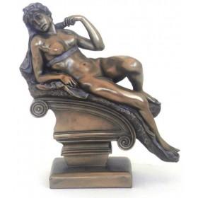 Statua in resina bronzata raffigurante l'allegoria dell'Aurora di Michelangelo.24542