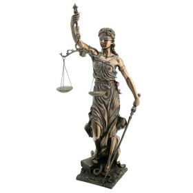 Statua La Giustizia in resina bronzata.24547
