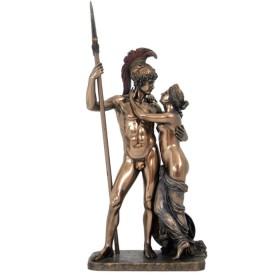 Statua in resina bronzata raffigurante Marte e Venere.24548