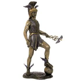 Statua in resina bronzata Hermes dio dei confini e dei viaggiatori.24543