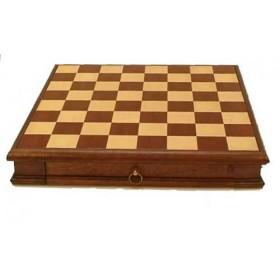 Scacchiera con cassetto in legno-18147